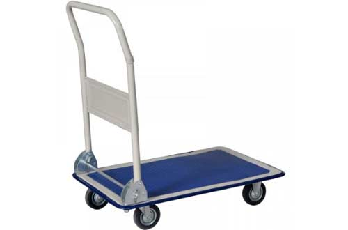 New Blue 330lbs Platform Cart Dolly Folding Foldable Moving Warehouse Push Hand Truck