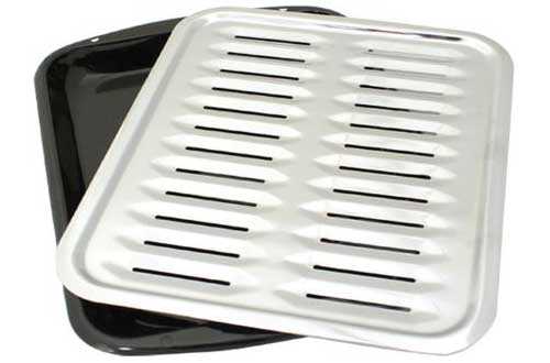 Broiler Pan with Chrome Grill