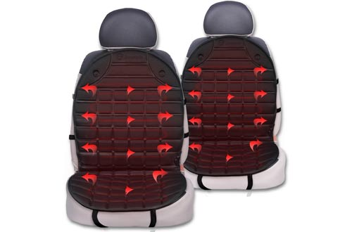Zone Tech Heated Car Seat Cushion Cover