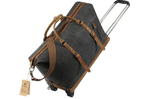 Kattee Luggage Rolling Duffel Bag