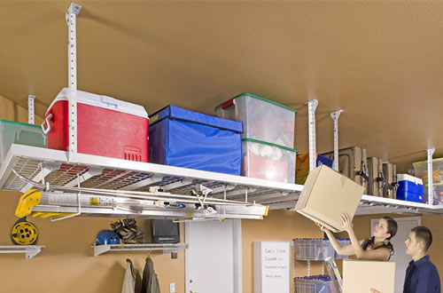 Overhead Garage Storage Shelves
