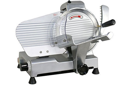 Commercial Stainless Steel Semi-Auto Meat Slicer, Cheese Food Electric Deli Slicer