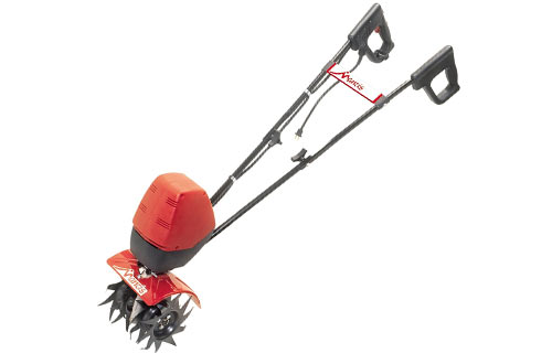 Mantis 7250-00-03 Corded Electric Tiller Cultivator with Touch-Start