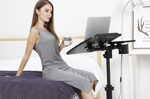 LANGRIA Foldable Mobile Laptop Stand Cart