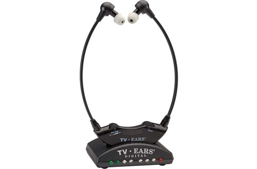 TV Ears Digital Wireless Headset System, Connects to both Digital and Analog TVs