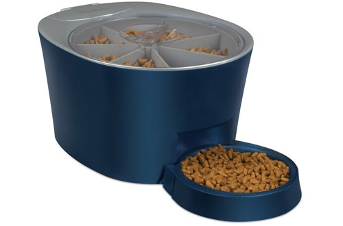 PetSafe Six Meal Automatic Pet Feeder, Dispenses Cat and Dog Food