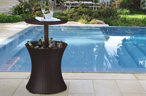 Outdoor Patio Pool Cooler Table