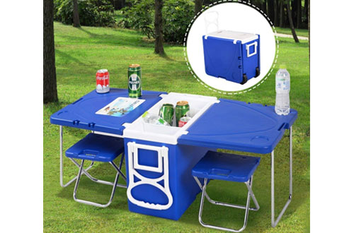 Giantex Multi Function Rolling Cooler Picnic Camping Outdoor
