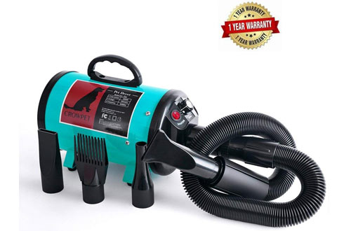 CROWPET High Velocity Professional Dog/Pet Grooming Force Dryer