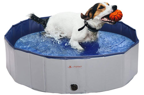 PUPTECK Foldable Dog Swimming Pool