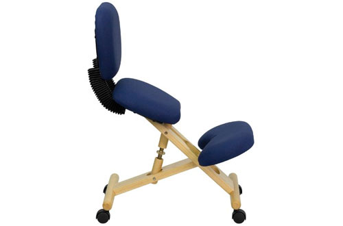 Flash Furniture Mobile Wooden Ergonomic Kneeling Posture Chair