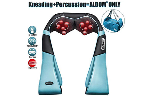 Neck and Back Massager with Deep Heat Kneading