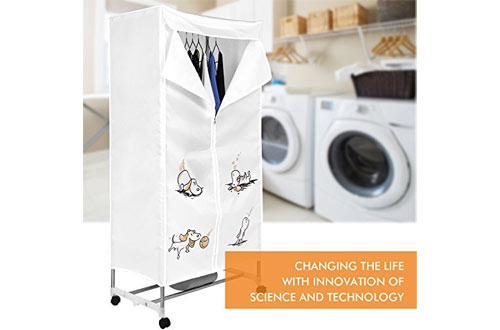 MeyKey Portable Clothes Dryer Heater 1000W Electric Drying Rack