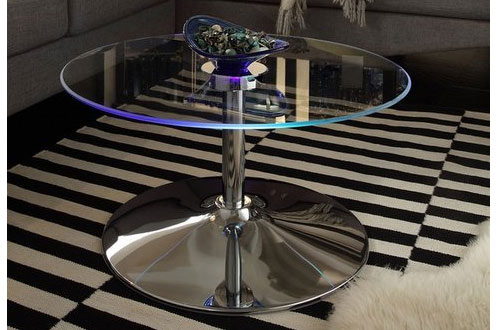 INSPIRE Q Lorin Cool Round Glass Coffee Table - Cocktail Table