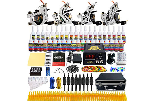 Solong Tattoo Complete Starter Beginner Tattoo Kit 4 Pro Machine Guns