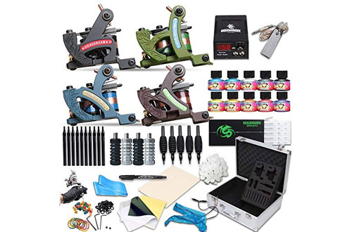 Dragonhawk Complete Tattoo Kit 4 Standard Tunings Tattoo Machines