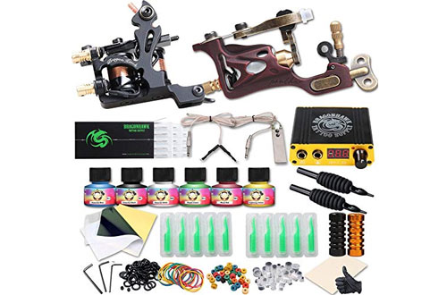 Dragonhawk Complete Tattoo Kit 2 Pro Machines Rotary Gun