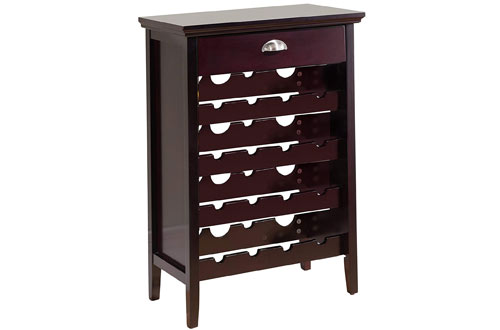Kings Brand Furniture Wood Buffet Wine Rack Cabinet