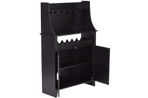 Kings Brand Furniture Wood Wine Rack Buffet & Storage Cabinet
