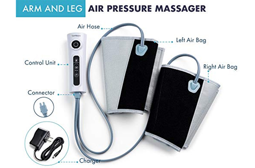 Arm & Leg Massager with Electric Compression Calf Wrap