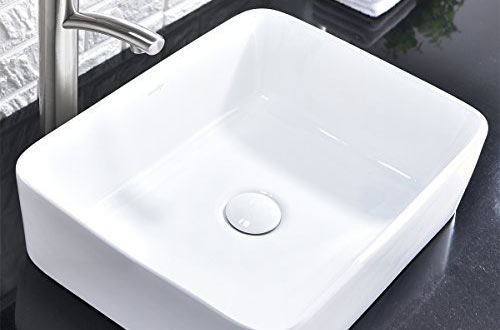 Comllen Above Counter White Porcelain Ceramic Bathroom Vessel Sink Art Basin