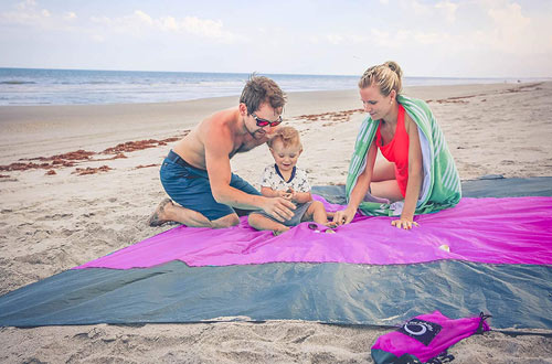 Sand Free Compact Outdoor Beach / Picnic Blanket-