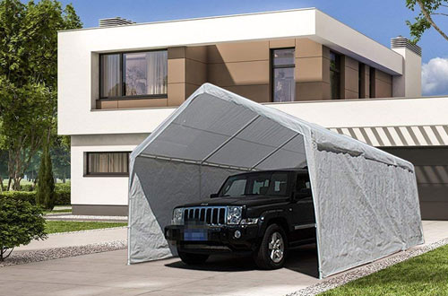 Car Canopy Shelter with Removable Side Panels,