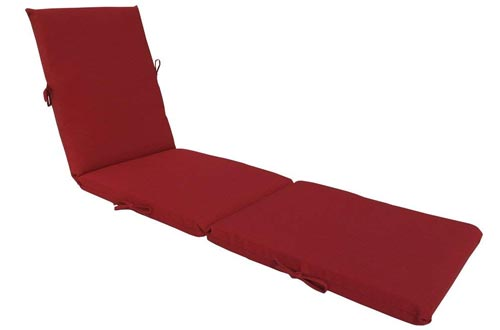 Bossima Indoor/Outdoor Rust Red Chaise Lounge Cushion