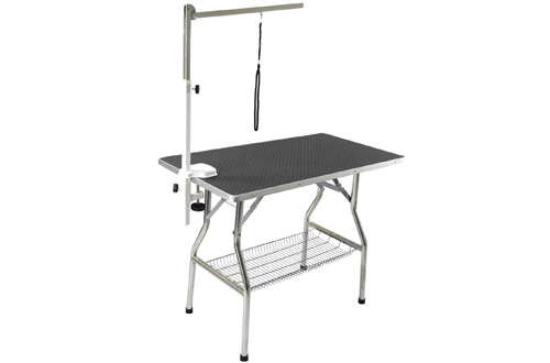 Heavy Duty Stainless Steel Frame Foldable Pet Grooming Table
