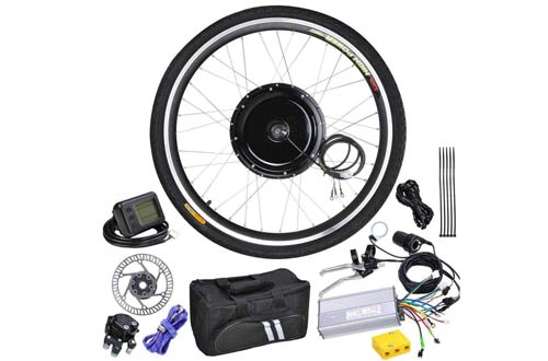 Electric Bicycle Conversion Motor Kit LCD Front Wheel
