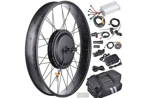 """AW 22.5"""" Electric Bicycle Front Wheel Frame Kit For 26"""" 48V 1000W 470RPM E-Bike"""