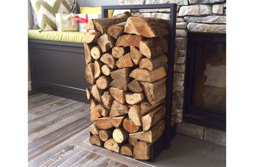 Firewood log rack for home fire place decoration