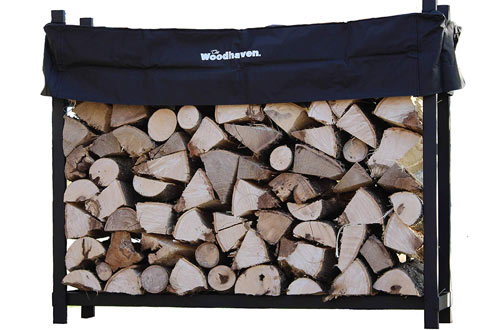 The Woodhaven 5 Foot Firewood Log Rack Cover