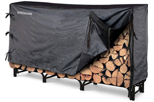 8 Ft Firewood Rack with Cover