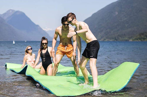 Rosso Water Floating Fortress - 18ft Floating Lake Water Pad Foam Mat For Boating