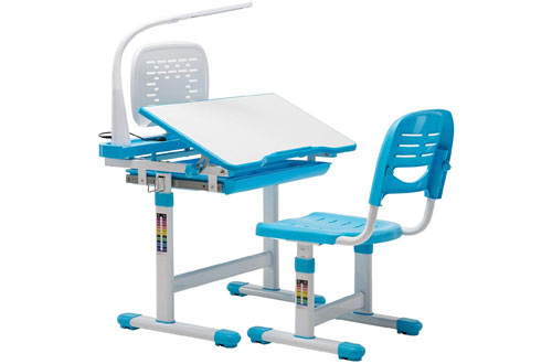 Mecor Children's Desk Chair Set Height Adjustable Kids Student School Study Table
