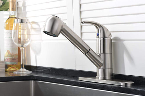 Ufaucet Kitchen Stainless Steel Sink Faucets With Pull Out Sprayer