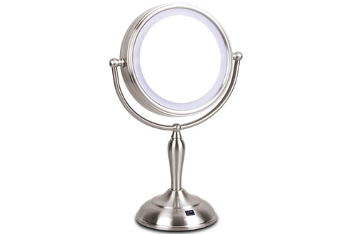 LED Makeup Lighted Vanity Mirror with Magnification