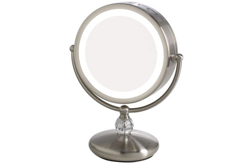 Magnification Lighted Makeup Vanity Counter-Top Mirror