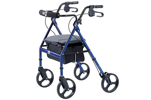 Hugo Portable Rollator Walker with Seat