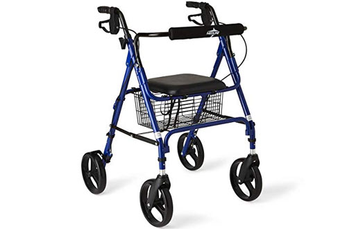 Medline Aluminum Folding Rollator Walker