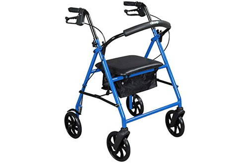 Drive Medical Steel Walker Rollator