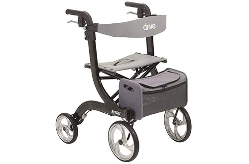 Drive Medical Nitro Euro Style Black Rollator Walker
