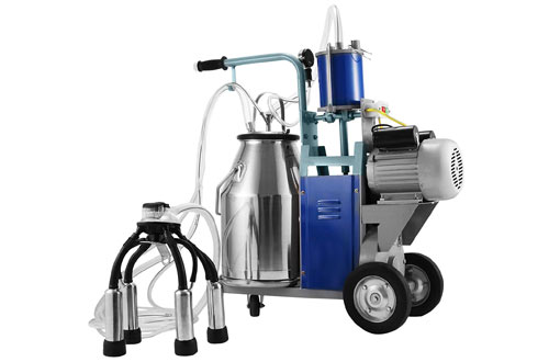 VEVOR Milking Machine 25L Bucket Capacity 550W Electric Milking Machine