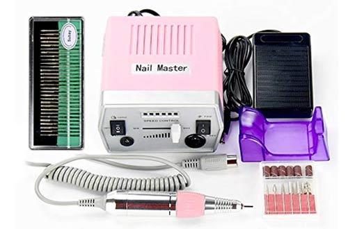 Pro Electric Nail Drill Manicure Pedicure Acrylics Gel Salon Art Tool Set
