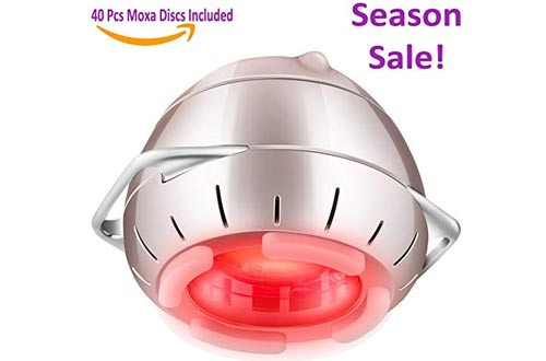 Moxibustion + Aromatherapy Han-Moxa Red LED Light Device for Pain Relief Therapy