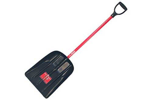 Bully Tools 92400 Mulch/Snow Scoop with Fiberglass D-Grip Handle