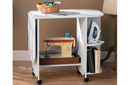 Southern Enterprises White Sewing Machine Tables