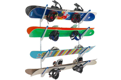 StoreYourBoard Snowboard Multi Wall Storage Rack | Home and Garage Mount