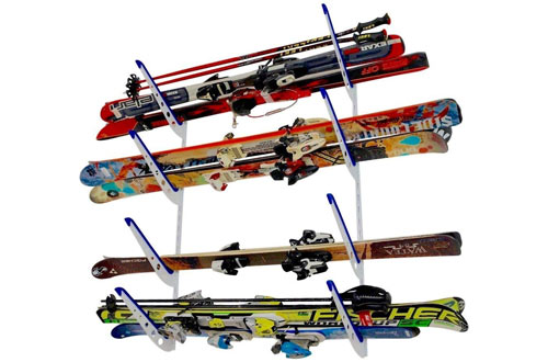 StoreYourBoard Horizontal Multi Ski Wall Rack